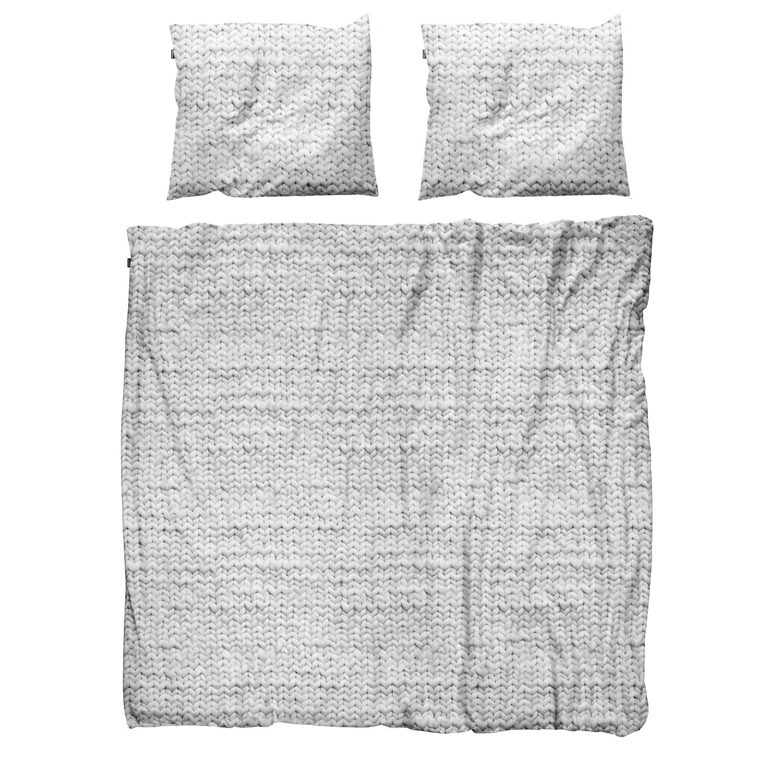 Купить Комплект постельного белья Косичка серый 200х220 фланель, inmyroom, Нидерланды
