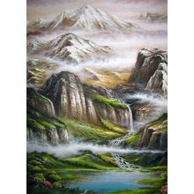"Декоративная картина на холсте ""Горная река"""