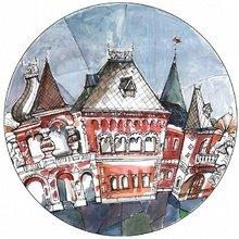 "Тарелка сувенирная с волнистыми краями MATEO ""Французкий дом"""