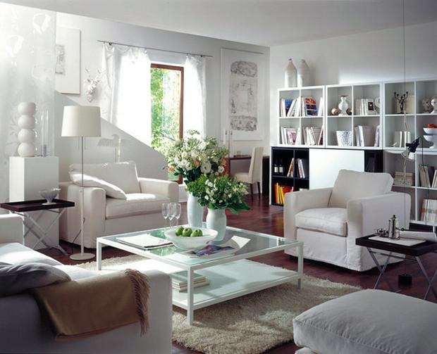 Фотография: Гостиная в стиле Скандинавский, Декор интерьера, Декор дома, Журнальный столик – фото на InMyRoom.ru