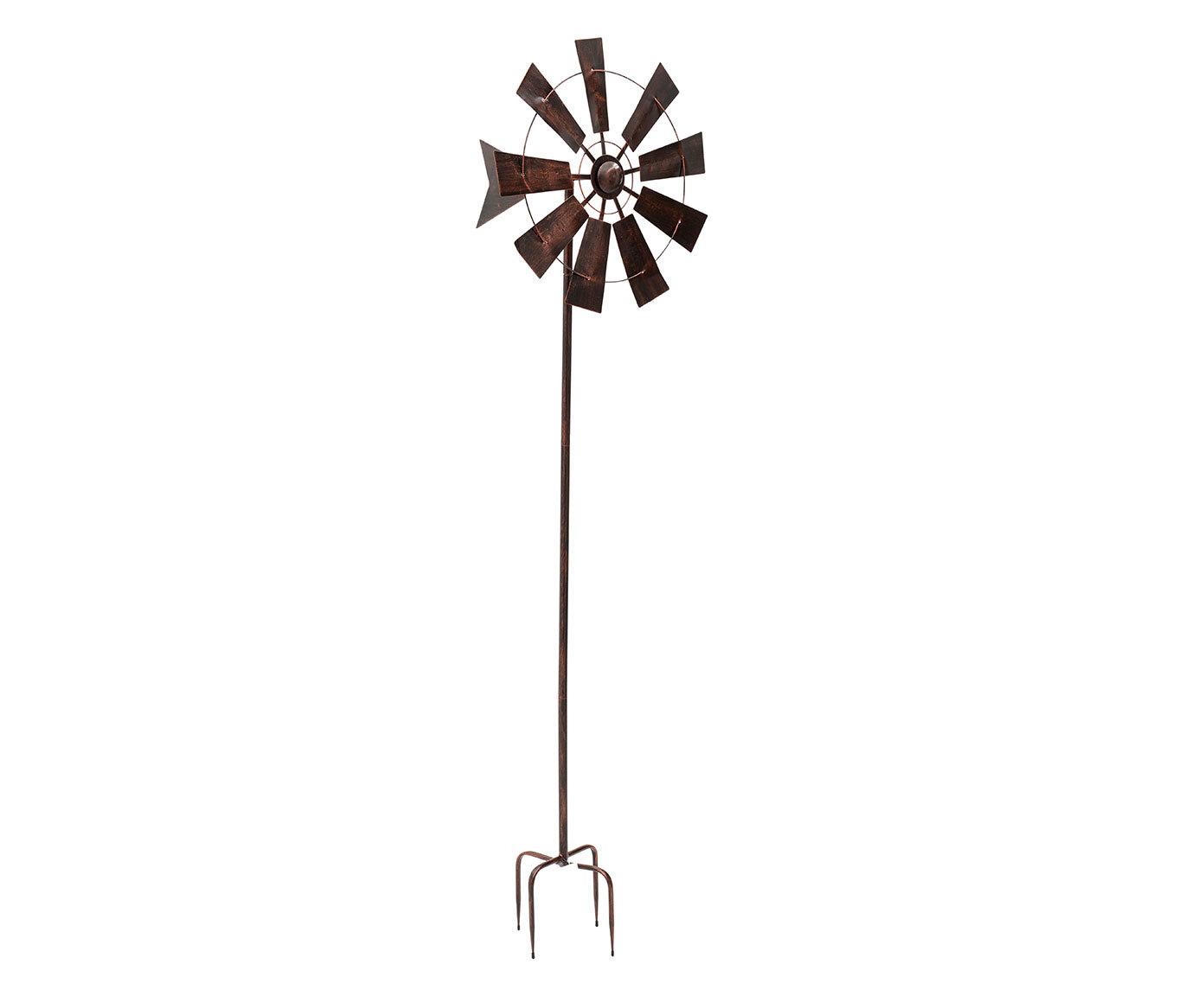 Декор для сада-вертушка из металла