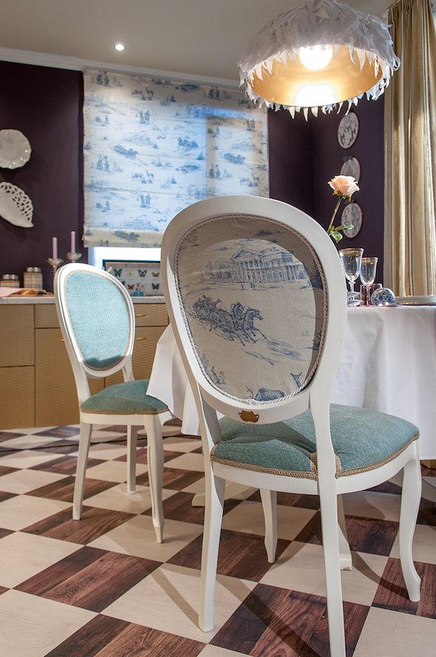 Фотография: Кухня и столовая в стиле Прованс и Кантри, Эклектика, Гостиная, Дом, Дома и квартиры – фото на InMyRoom.ru