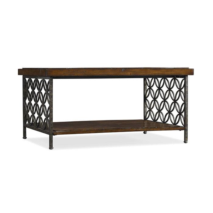 Стол Журнальный Iron (Дерево, Металл, Medium Wood)