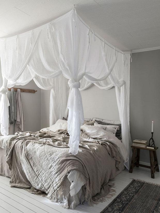 Фотография: Спальня в стиле Прованс и Кантри, Скандинавский, Декор интерьера, Дом, Швеция, Эко – фото на InMyRoom.ru