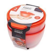 Набор из двух мисок с двойными стенками для микроволновой печи Joseph Joseph m-cuisine оранжевый