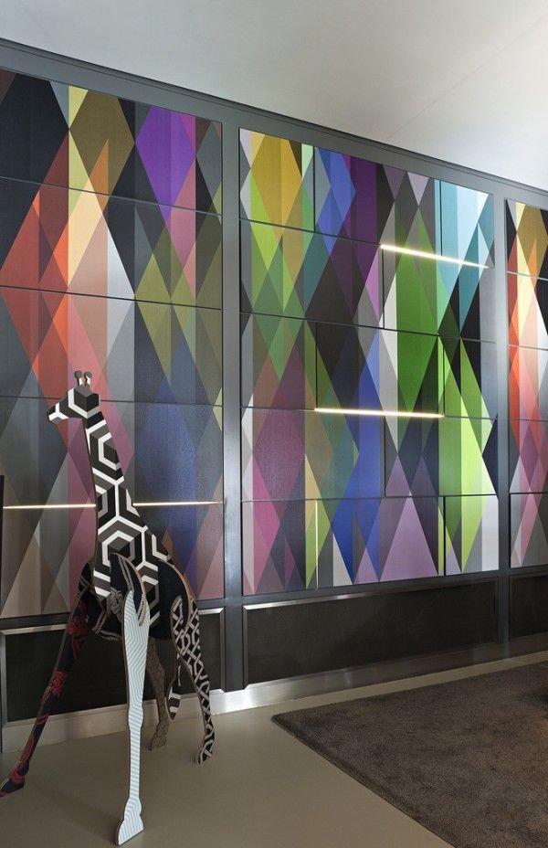 Фотография: Декор в стиле Эклектика, Индустрия, Новости, Обои, Геометрия в интерьере – фото на InMyRoom.ru