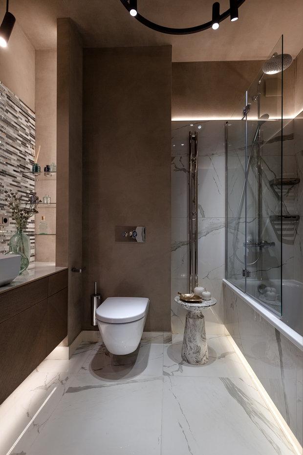Фотография: Ванная в стиле Классический, Современный, Квартира, Проект недели, Новосибирск, 2 комнаты, 40-60 метров, Александра Протасова – фото на INMYROOM