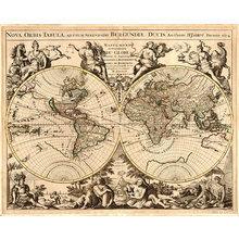 Картина (репродукция, постер): Карта старинная 1694г