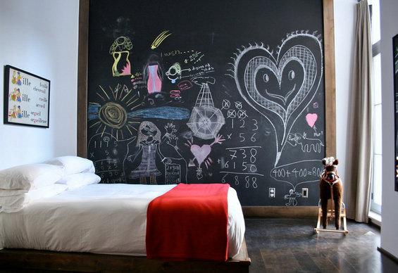 Фотография: Детская в стиле Минимализм, Декор интерьера, Интерьер комнат, Цвет в интерьере, Обои – фото на INMYROOM