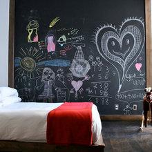 Фотография: Детская в стиле Минимализм, Декор интерьера, Интерьер комнат, Цвет в интерьере, Обои – фото на InMyRoom.ru