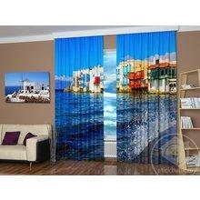 Шторы с фотопечатью: Прибрежный отель