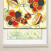 Рулонные шторы на кухню: Аленькие цветочки
