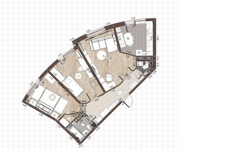 Поделитесь идеями по поводу перепланировки и расстановки мебели!