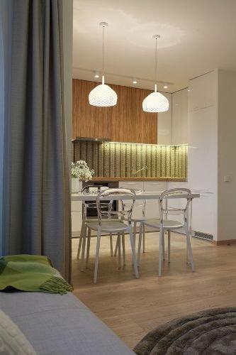 Фотография: Кухня и столовая в стиле Современный, Спальня, Интерьер комнат – фото на InMyRoom.ru
