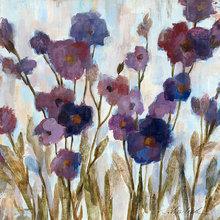Картина (репродукция, постер): Abstracted Florals In Purple - Сильвия Васильева