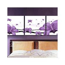 Модульная картина на холсте: Лиловый гибискус