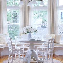 Фотография: Кухня и столовая в стиле Современный, Гостиная, Интерьер комнат, Тема месяца, Шторы – фото на InMyRoom.ru