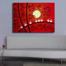 """Дизайнерская картина на холсте """"Красный закат"""""""