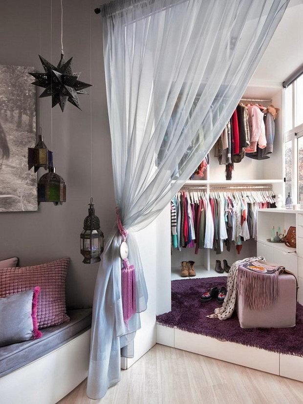 Фотография: Гардеробная в стиле Скандинавский, Спальня, Советы – фото на INMYROOM