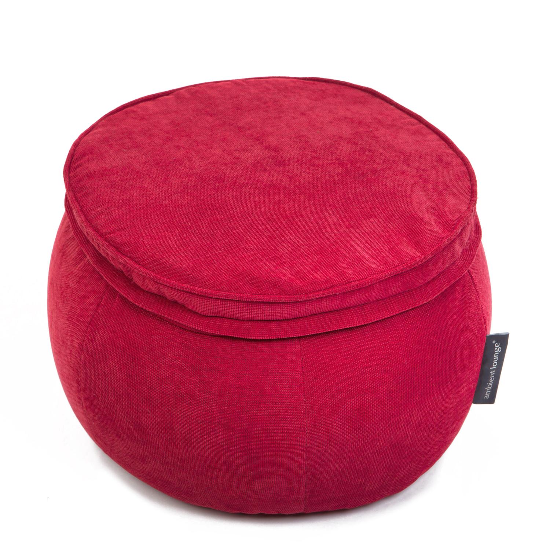 Бескаркасный пуф Ambient Lounge Wing Ottoman - Wildberry Deluxe (красный)красный