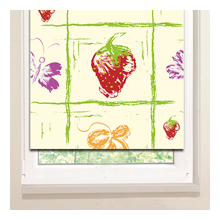 Рулонные шторы: Клубничный нолик