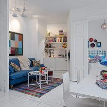Фотография: Гостиная в стиле Скандинавский, Декор интерьера, Малогабаритная квартира, Квартира, Швеция, Цвет в интерьере, Дома и квартиры, Белый – фото на InMyRoom.ru