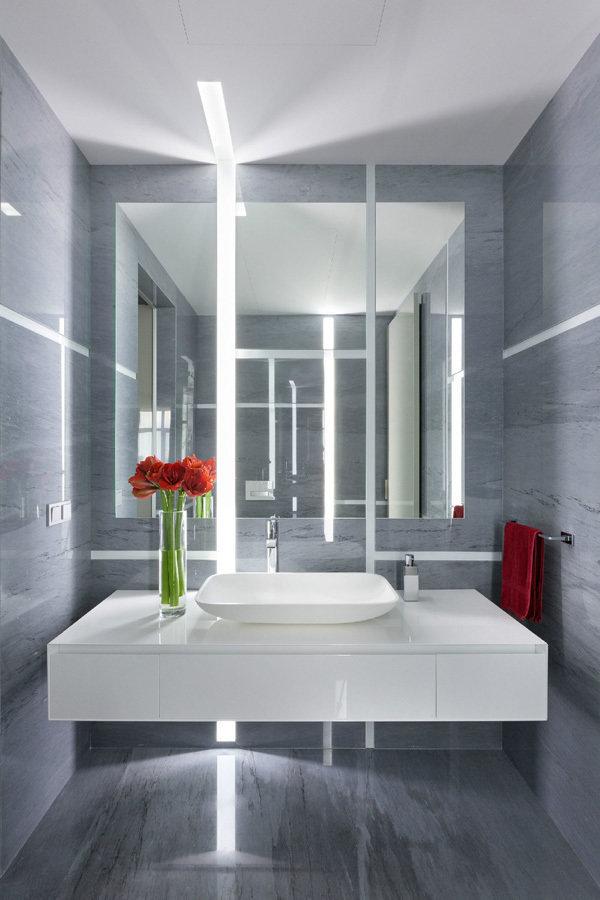 Фотография: Ванная в стиле Современный, Квартира, Дома и квартиры, Минимализм – фото на InMyRoom.ru