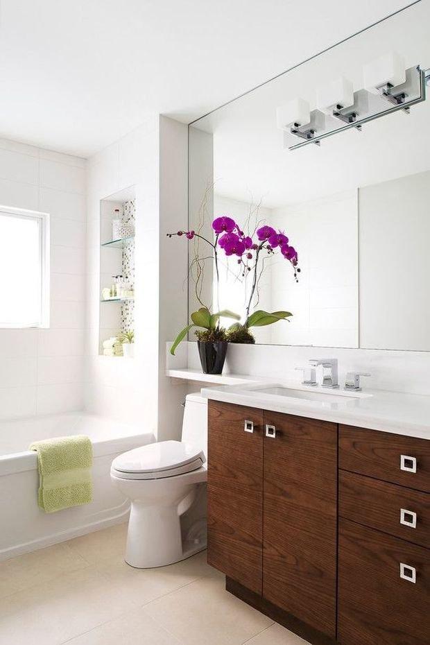 Фотография:  в стиле , Ванная, Советы, Ремонт на практике, Уютная квартира, что нужно знать о ремонте в ванной, теплый пол в ванной, вытяжка в ванной, гидроизоляция в ванной, сантехника для ванной комнаты, потолок в санузле – фото на InMyRoom.ru