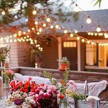 Фотография: Терраса в стиле Кантри, Ландшафт, Мебель и свет, Дом и дача, как осветить дачный участок, как выбрать фонари для сада – фото на InMyRoom.ru