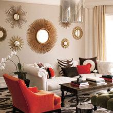 Фотография: Гостиная в стиле Эклектика, Декор интерьера, Декор дома, Зеркала – фото на InMyRoom.ru