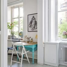 Фото из портфолио Бирюзовый стол с резными ножками))) изюминка дизайна!!! – фотографии дизайна интерьеров на INMYROOM