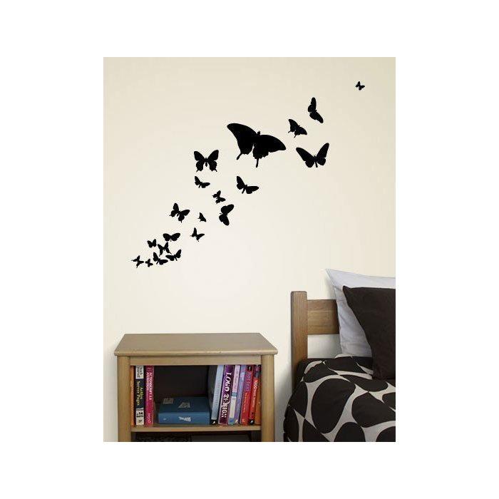 Виниловая наклейка коллекция редких бабочек
