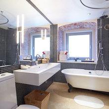 Фотография: Ванная в стиле Лофт, Малогабаритная квартира, Квартира, Дома и квартиры, Проект недели – фото на InMyRoom.ru