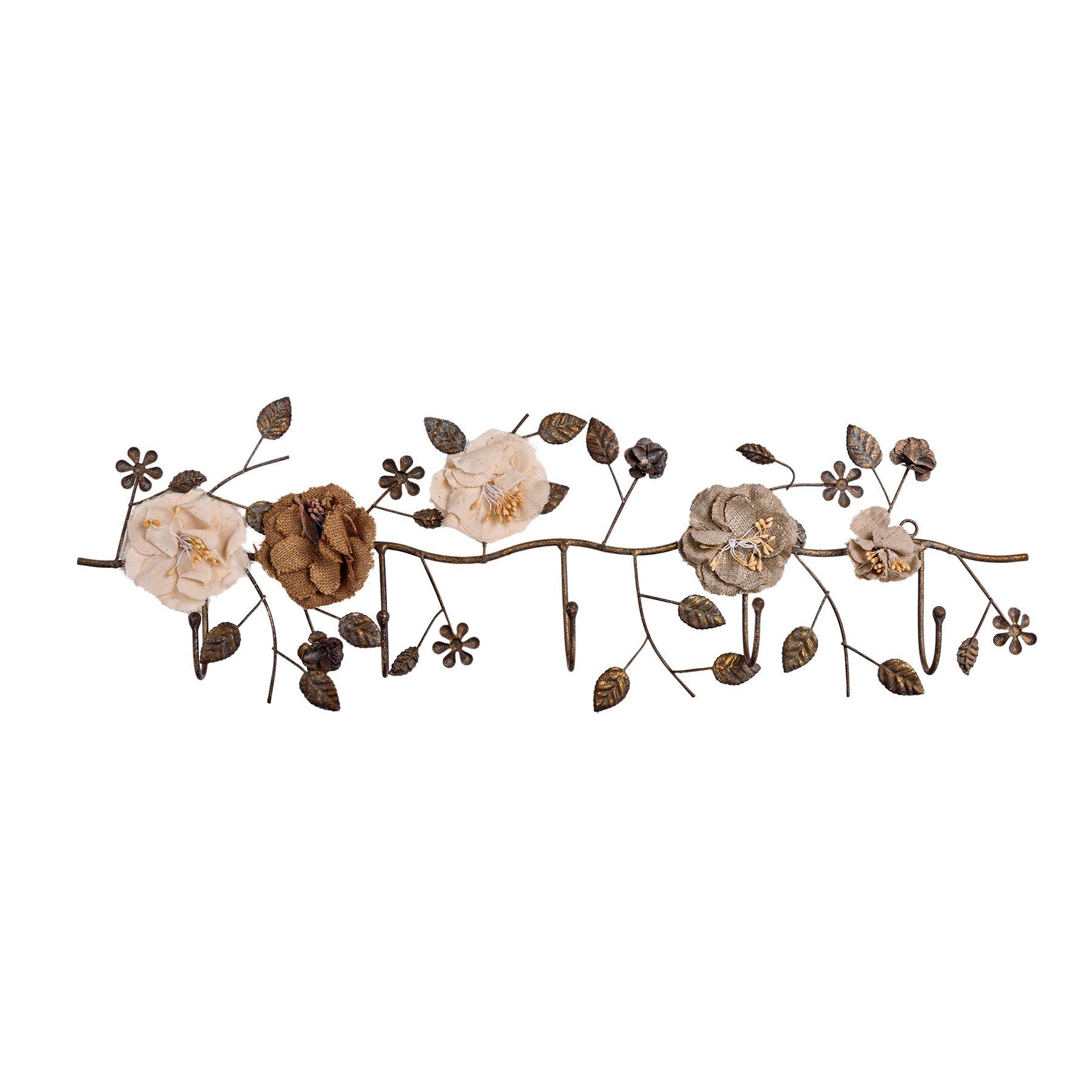 Купить со скидкой Вешалка настенная розарий в винтажном стиле
