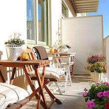 Фотография: Балкон в стиле Кантри, Декор интерьера, Квартира, Дизайн интерьера, Мебель и свет, Цвет в интерьере, Стокгольм, Коричневый – фото на InMyRoom.ru