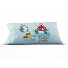 Подушка для детской: Пингвин и медвежонок