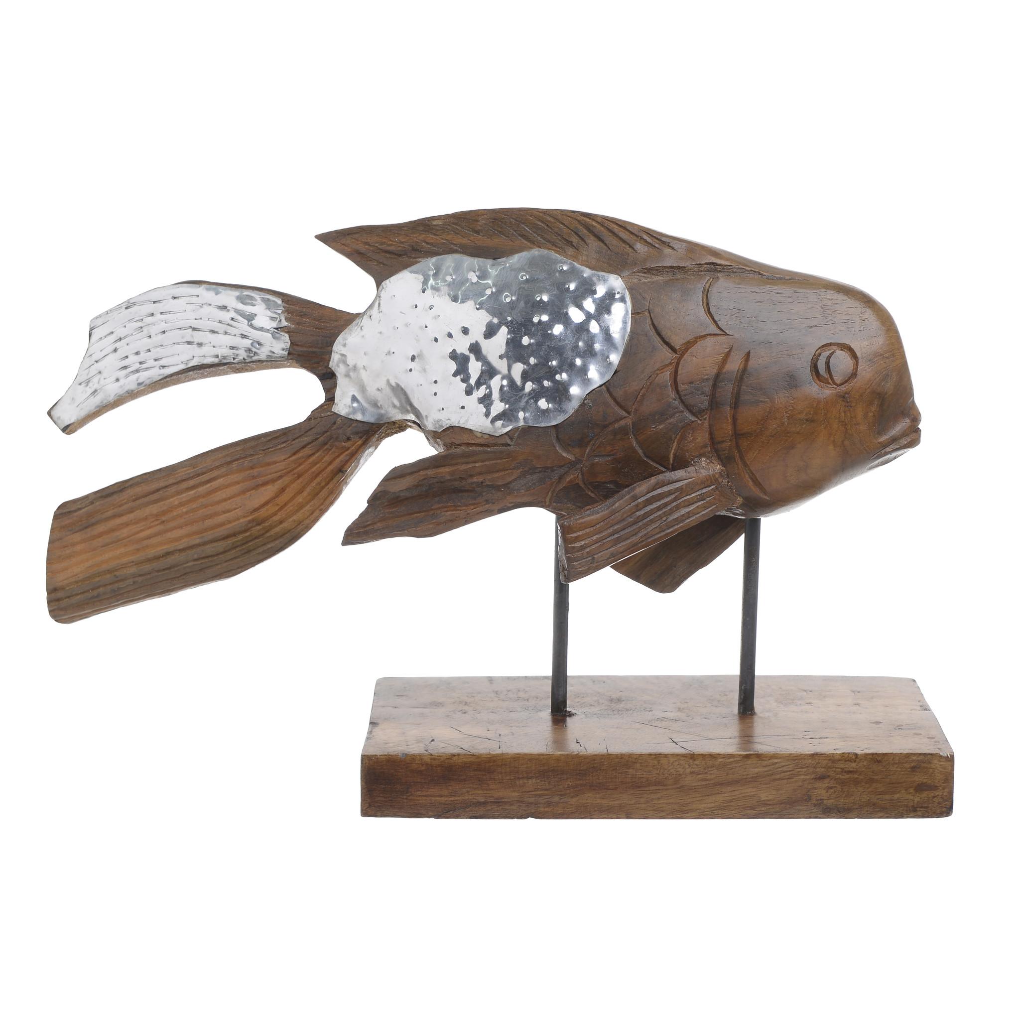 Купить Декор настольный рыба из дерева, inmyroom, Греция