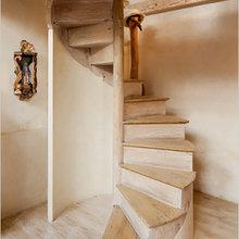 Фотография: Прихожая в стиле Кантри, Дом, Дома и квартиры, Лестница – фото на InMyRoom.ru