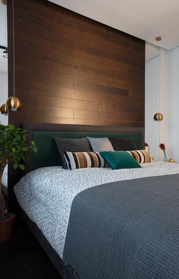 Фотография: Спальня в стиле Современный, Уютная квартира, Олеся Шляхтина, Анна Моджаро, Elements, Pallage Studio, ПРЕМИЯ INMYROOM – фото на INMYROOM