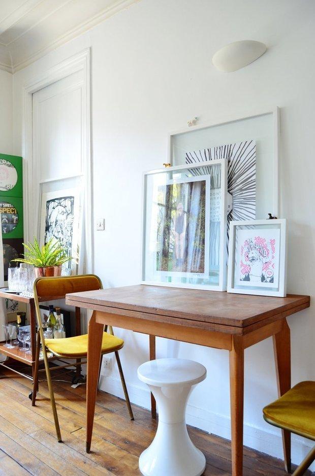 Фотография: Мебель и свет в стиле Скандинавский, Эклектика, Малогабаритная квартира, Квартира, Дома и квартиры, Минимализм, Ретро – фото на INMYROOM