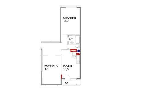 2-х комнатная квартира ищет профессионала. Помогите, пожалуйста, с планировкой!