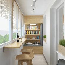 Фотография: Балкон в стиле Современный, Минимализм, Квартира, Проект недели – фото на InMyRoom.ru