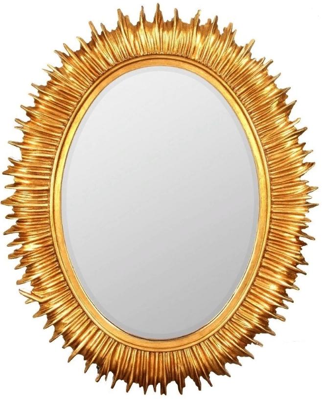 Купить Овальное настенное зеркало-солнце Luminary, inmyroom, Россия