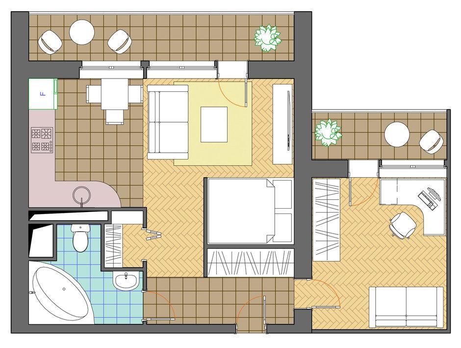 Фотография: Планировки в стиле , Квартира, Дома и квартиры, Перепланировка, И-522А – фото на InMyRoom.ru