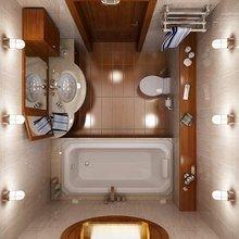 Фотография: Ванная в стиле Современный, Интерьер комнат, Перепланировка – фото на InMyRoom.ru