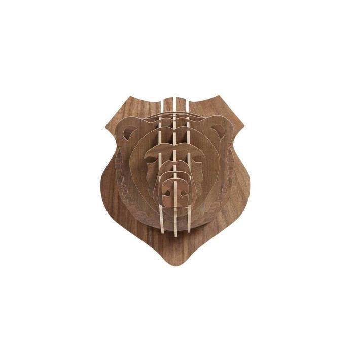 "Декоративная голова медведя ""Bitzen Brown"""