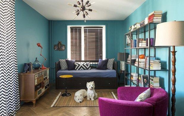 Фотография: Гостиная в стиле Эклектика, Гид, маленькая гостиная – фото на INMYROOM