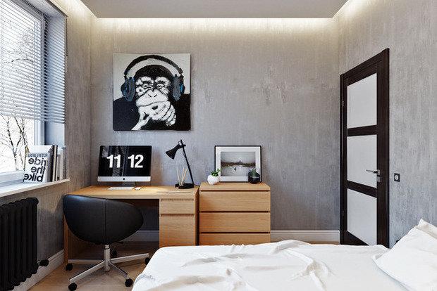 Фотография: Спальня в стиле Лофт, Современный, Квартира, Проект недели – фото на InMyRoom.ru