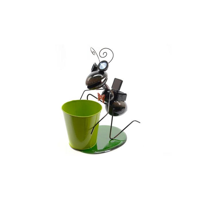 Садовый фонарь с кашпо Муравей
