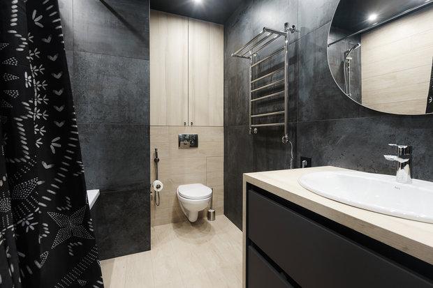 Фотография: Ванная в стиле Лофт, Современный, Квартира, Минимализм, Проект недели, Пенза, 3 комнаты, Более 90 метров, Юлия Власова – фото на INMYROOM